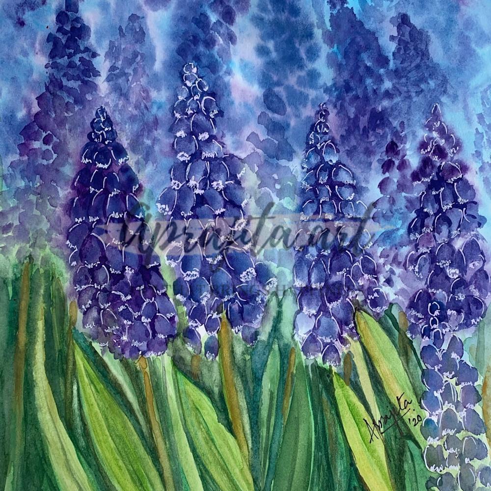 Purple blooms print gqgx2f