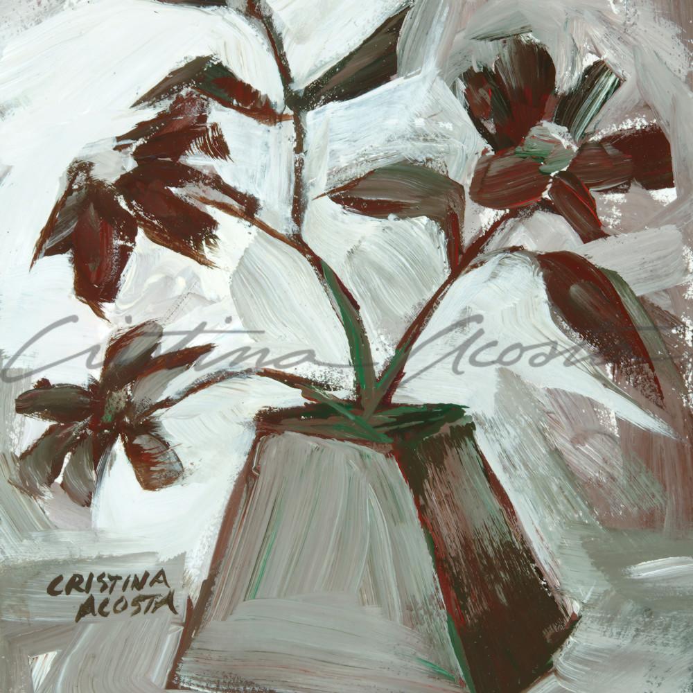 Flower vase neutral taupe bosshz