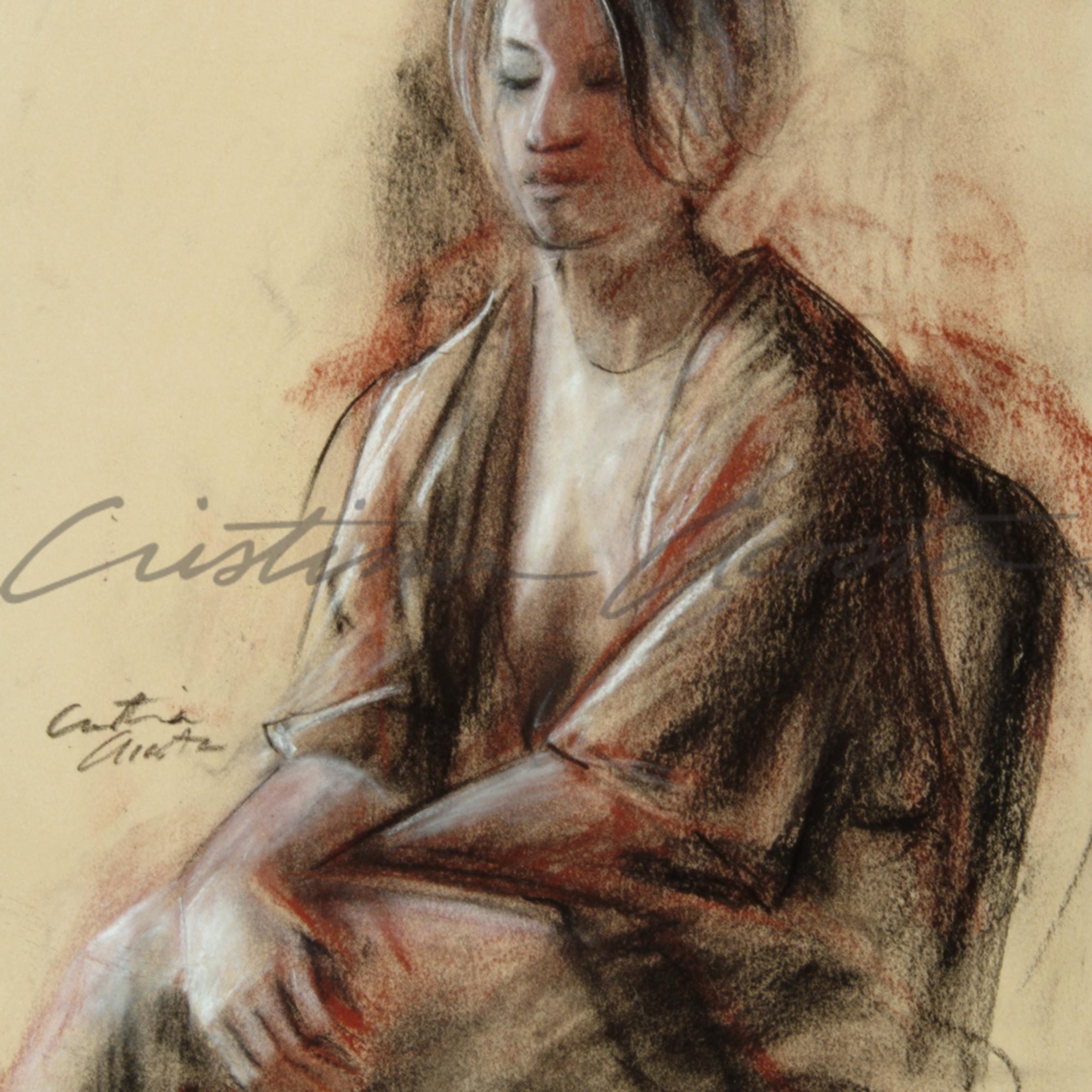 Contemplation cristina acosta conte sketch heli9g