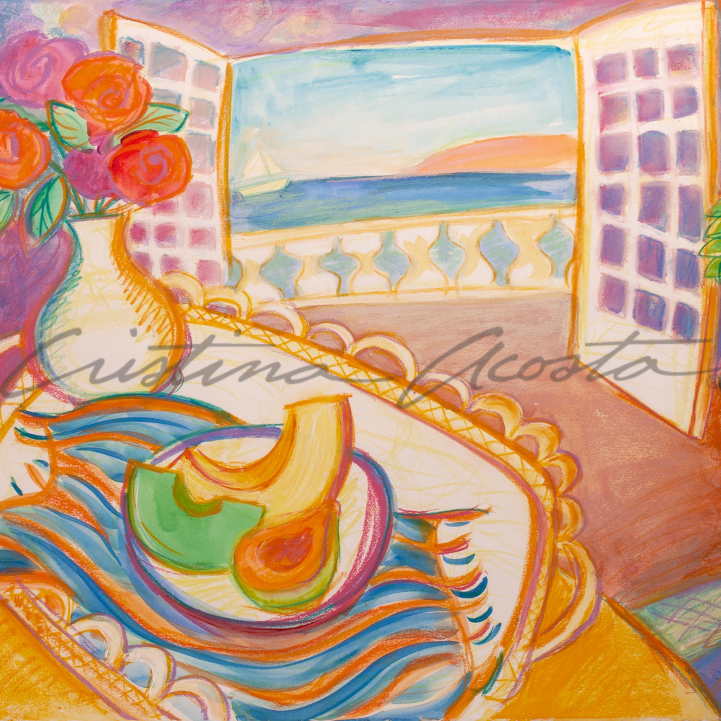 Seaside breakfast paint happy cristina acosta 2020 oyl0c2