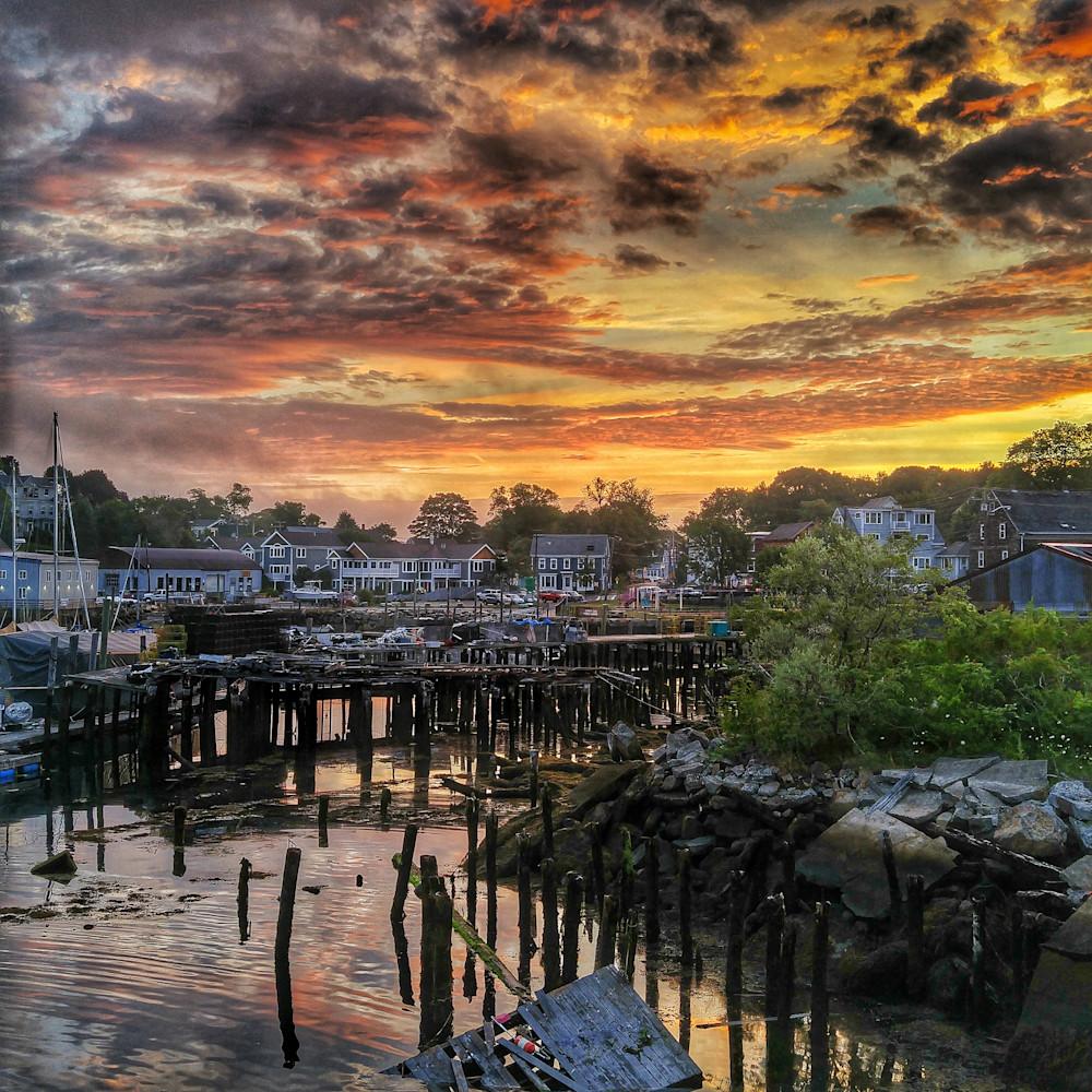 Sunrise at the dock 36x36 150dpi danef4