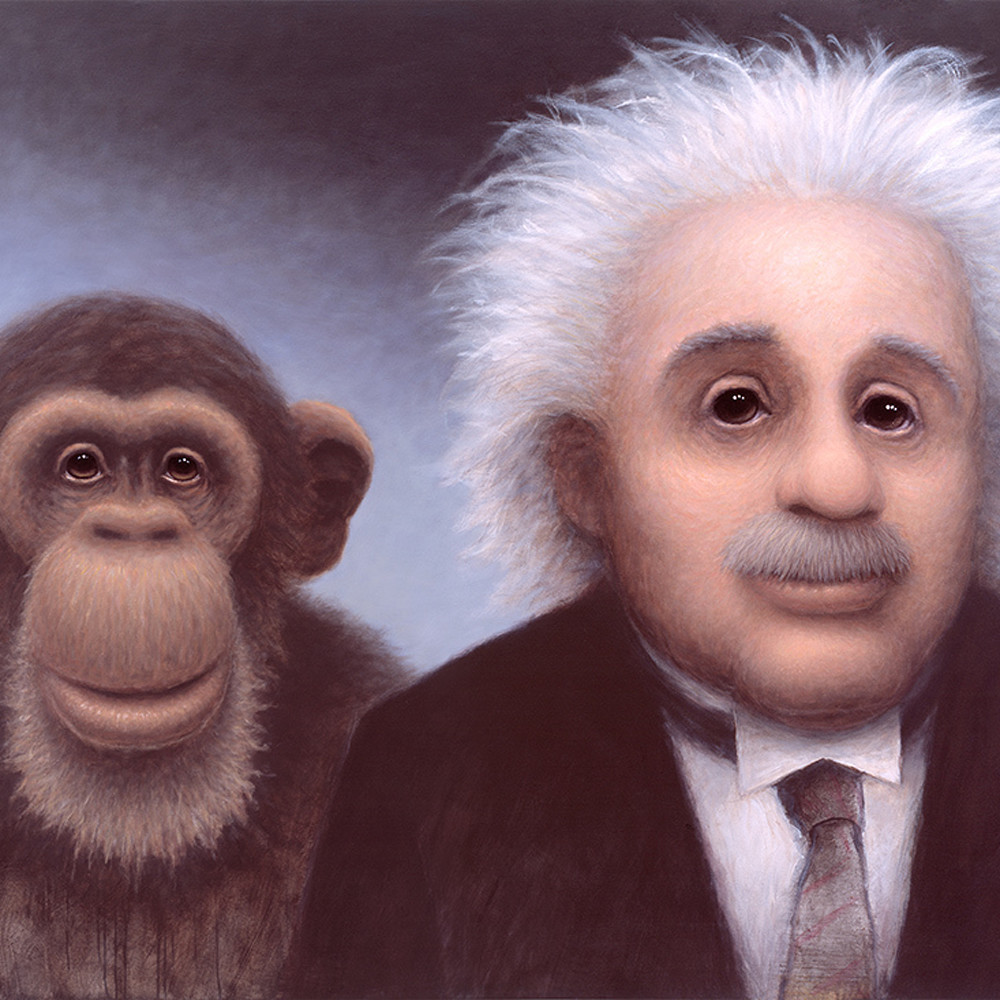 Einstein and monkey ahlzaf