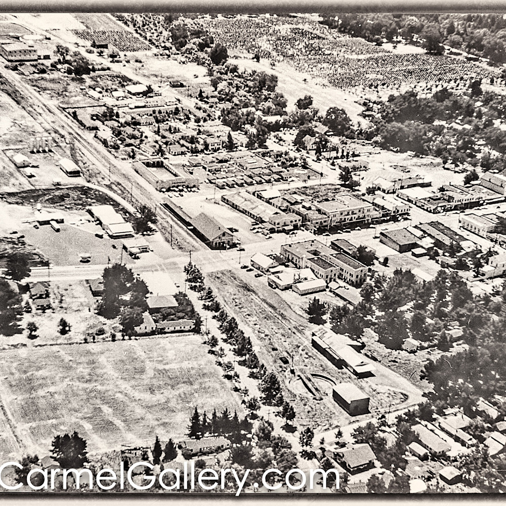 Calistoga aerial view 1950 s d9x0ch