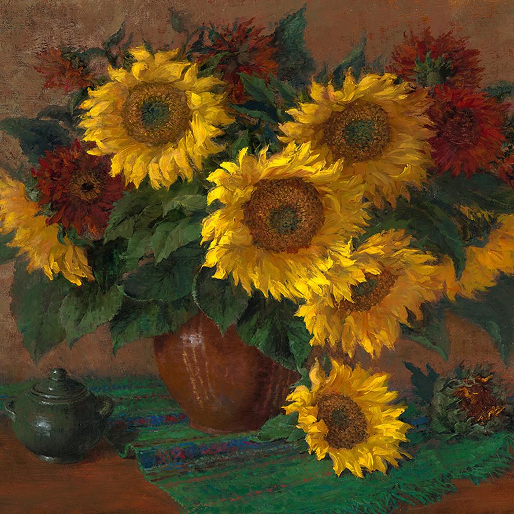 Mammoth and crimson sunflowers vvfcep