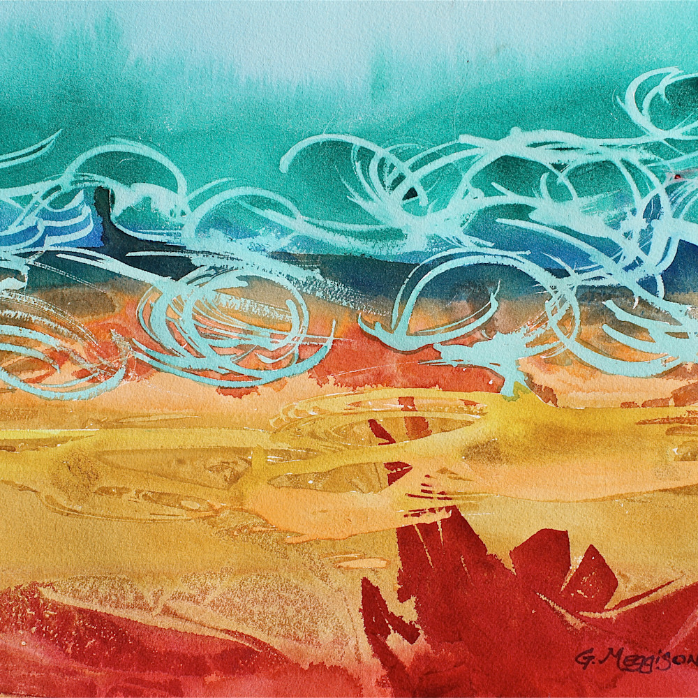 Fractal pleasure 12 x16 watercolor cp cqzuhx