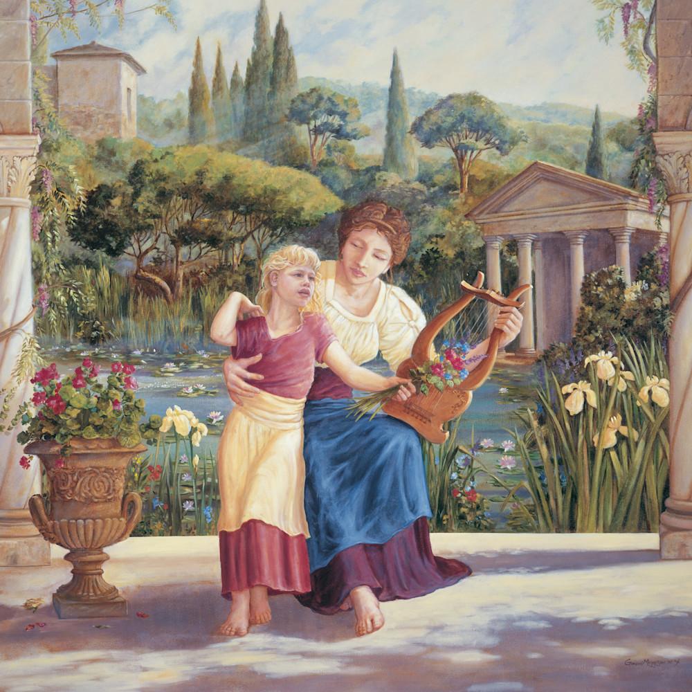 Roman garden 30 x36 oil nykbvs
