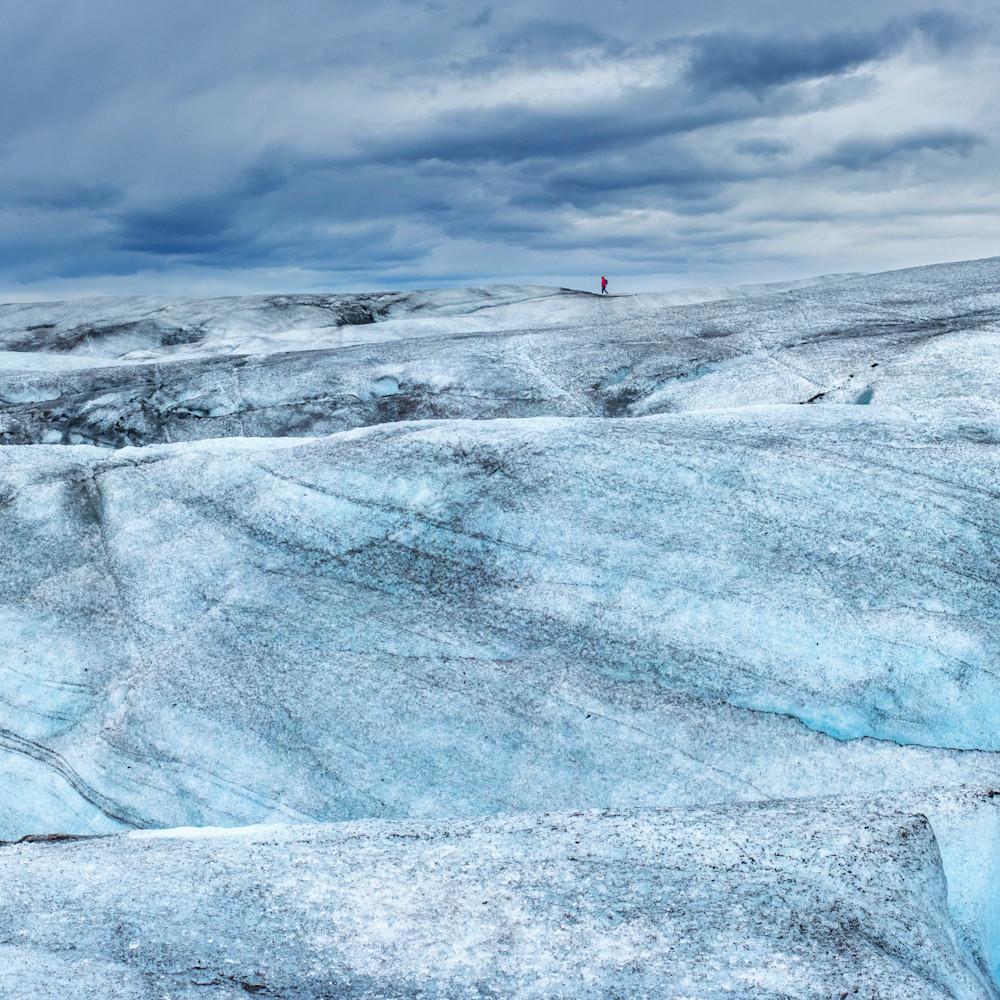Person on the glacier kfek0v