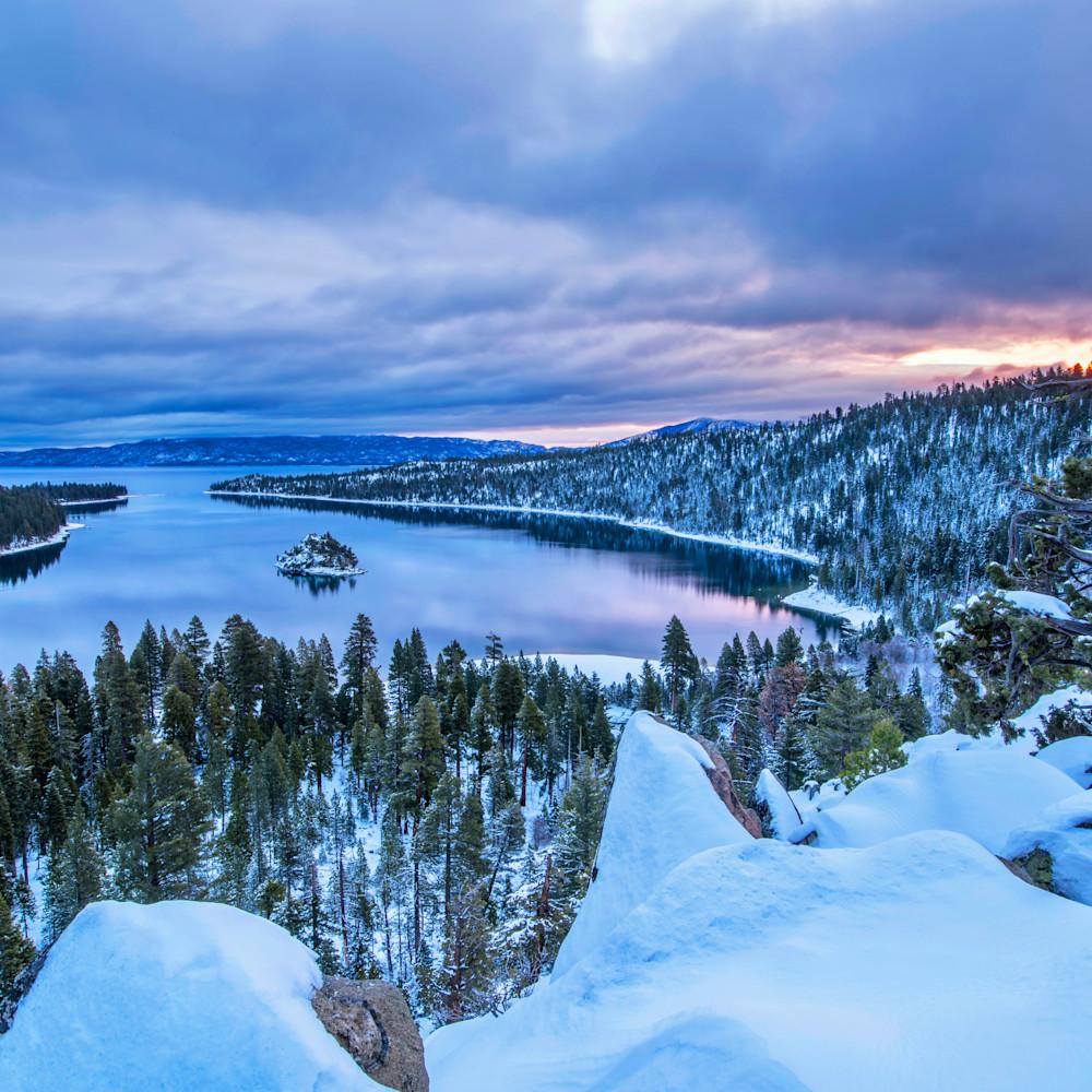 Emerald bay winter sunrise icetb9