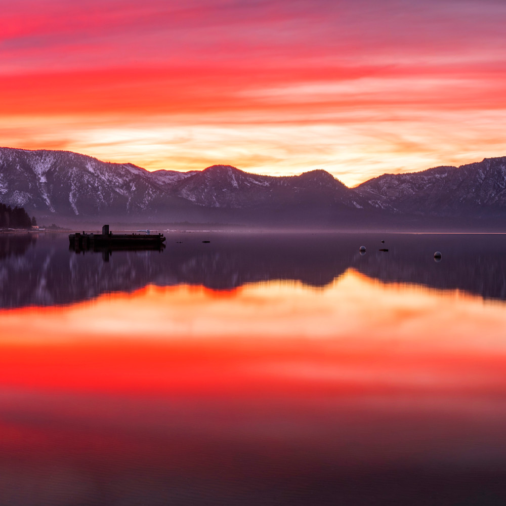 Tallac sunset from timber cove bufbjx