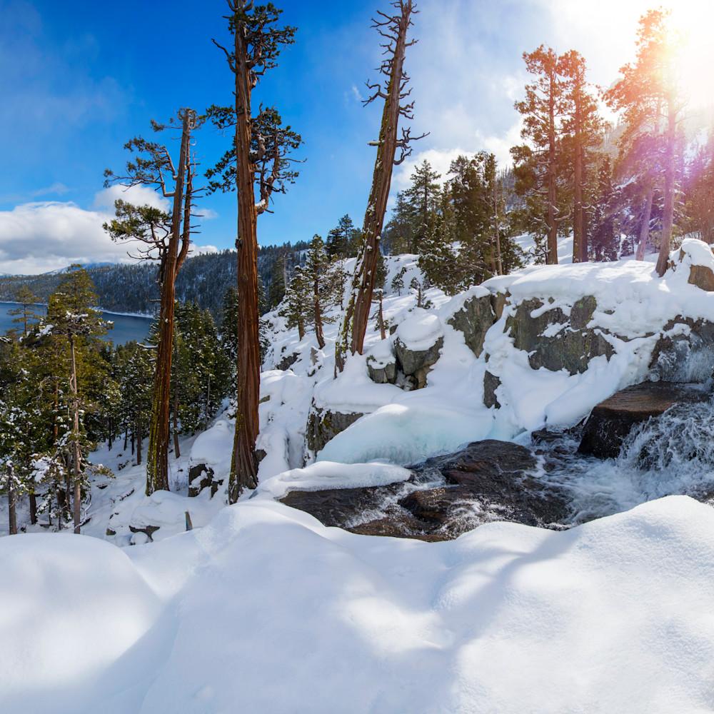 Lower eagle falls winter pano io3c1f