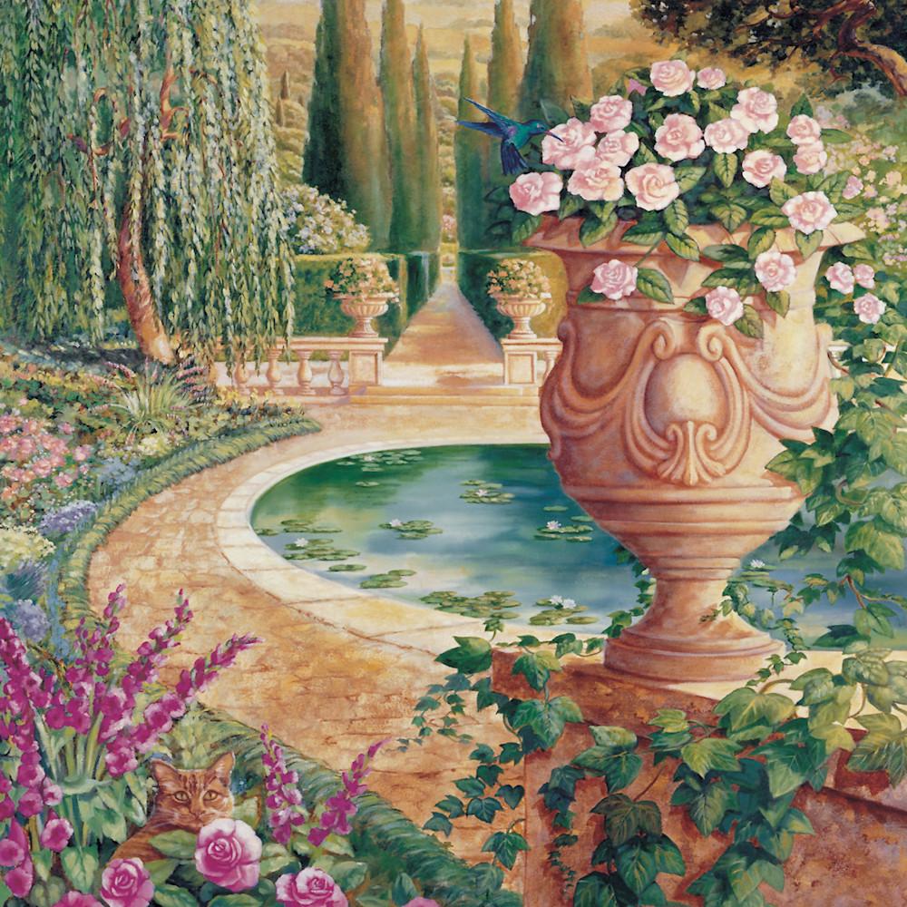 Roman garden 36 x48 print typrgj