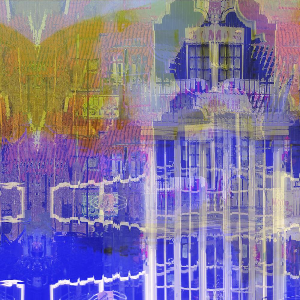 Reflective blue cafe ojvthz