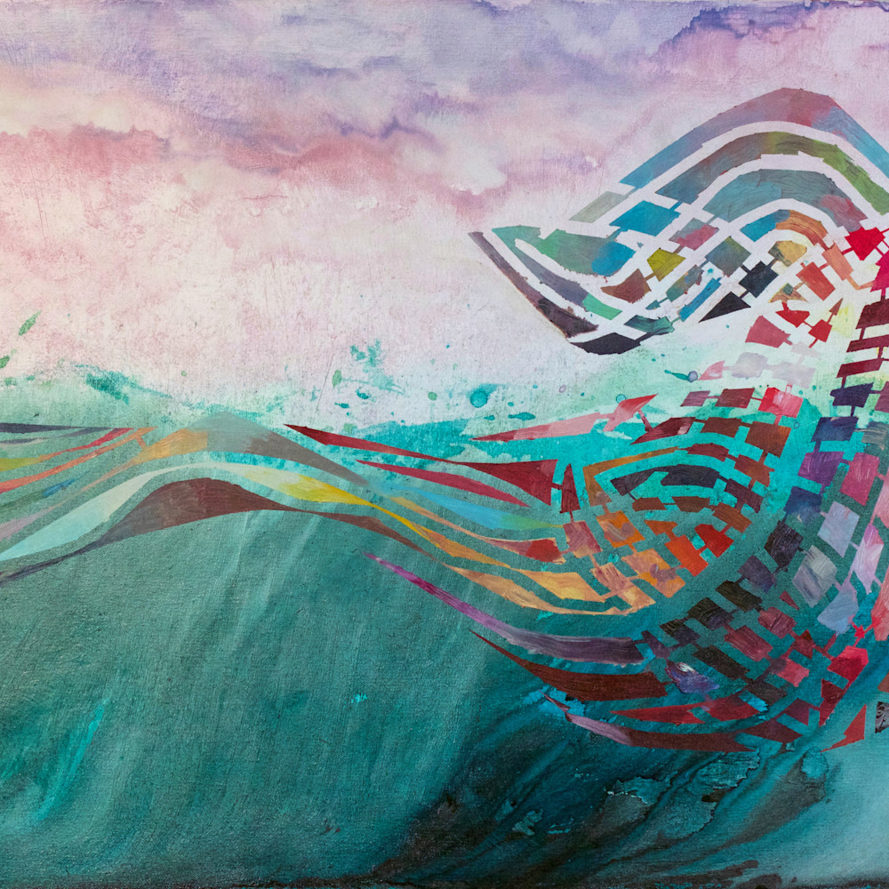 Breach abstract whale painting michael serafino wet paint nyc q2i8ve