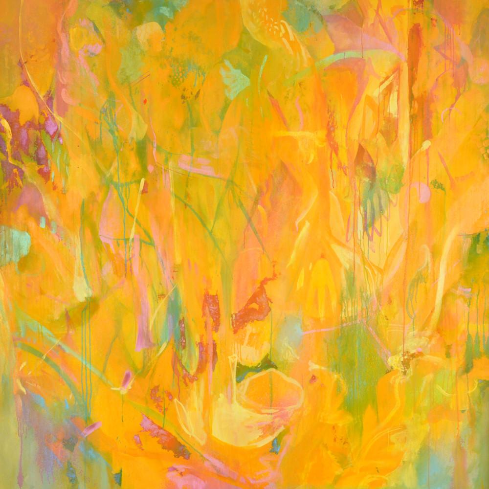 Indian summer yellow abstract painting artist ari lankin wet paint nyc z3lpkf