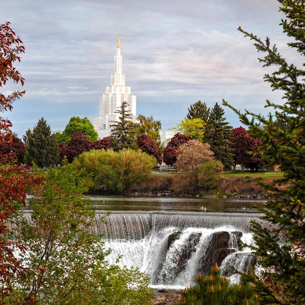 Robert a boyd idaho falls temple waterfall d1wi89