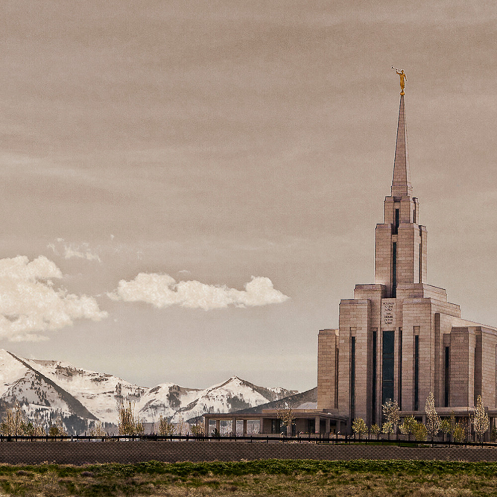 Robert a boyd oquirrh mountain temple top of the mountains uwplqh