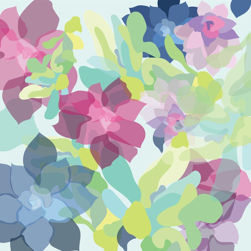Floral pattern 5x5 qnbjqq