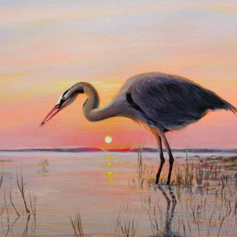 Great blue heron at dawn e45b5a