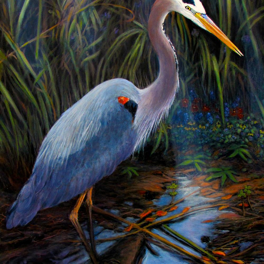 Great blue heron 30 x 40 sihap6