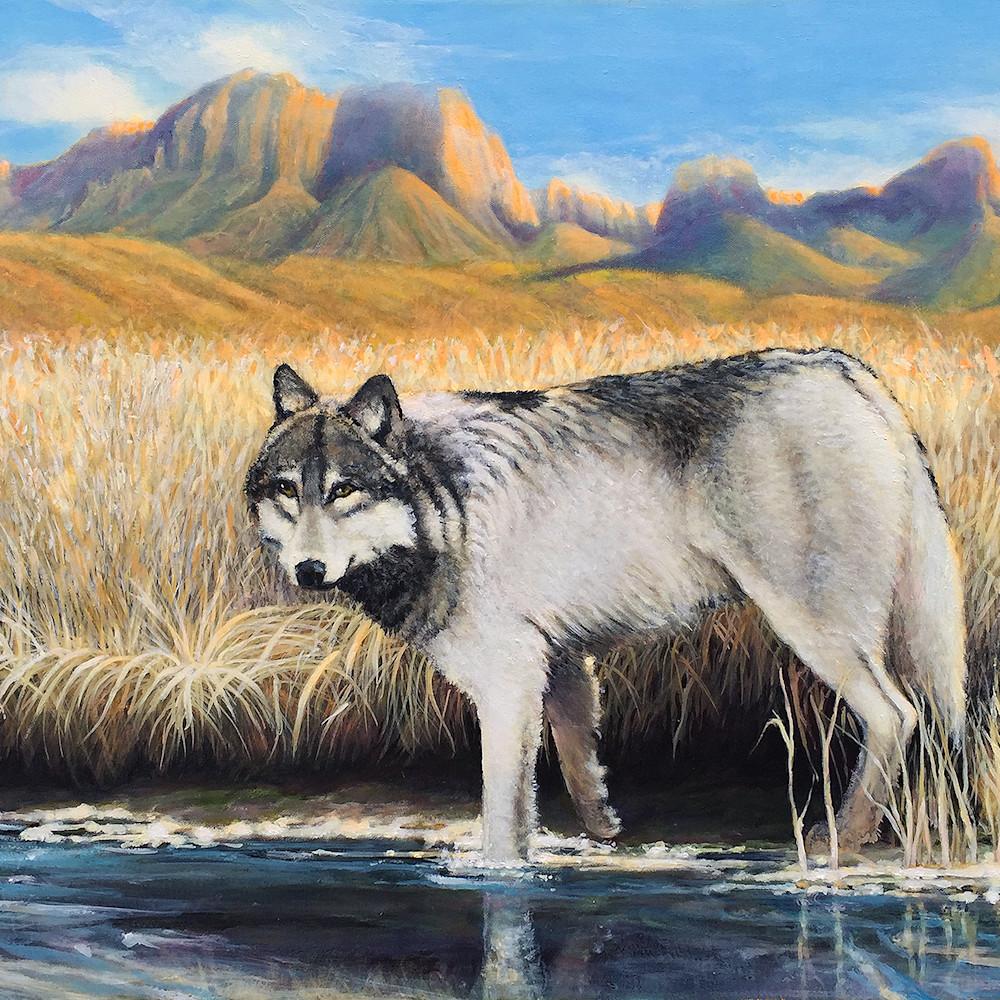 She wolf and cub 24x36 fejecm