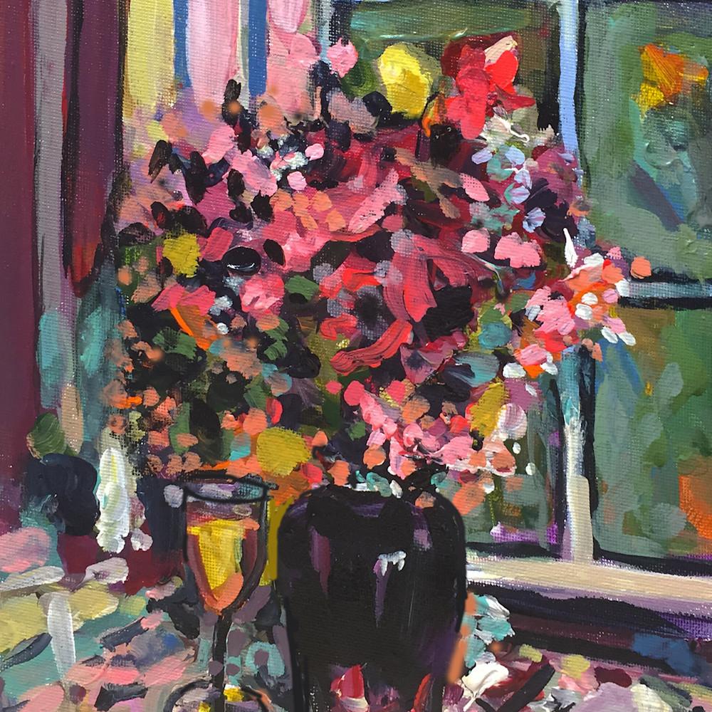 Still life in black vase 300 l0swu4