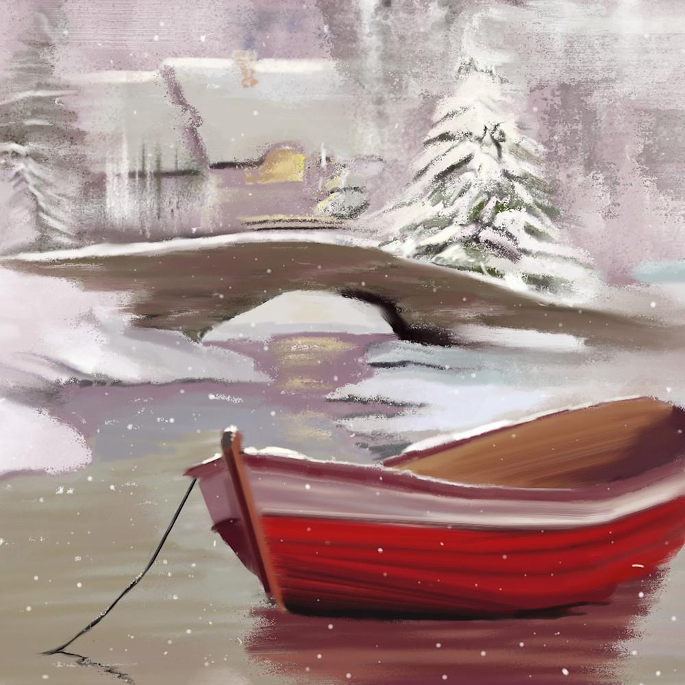 Christmas boat print ready qoombd
