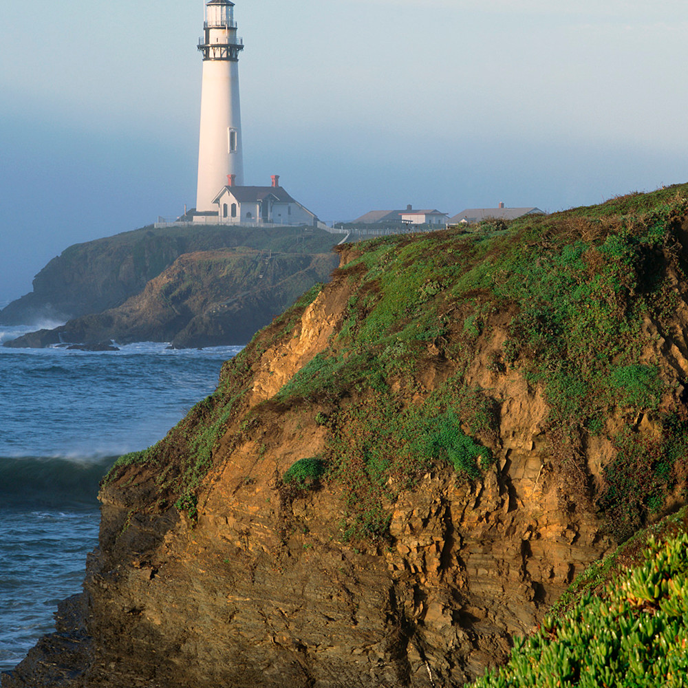 Pigeon point lighthouse in fog tszq49