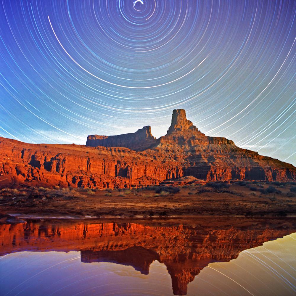Reflecting star trails pgcr0t