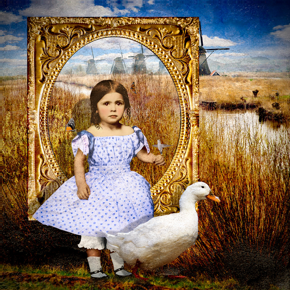 A  girl and her duck pcxv6g