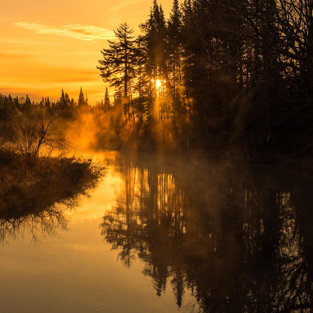 Moosre river sunrise mist eusosr
