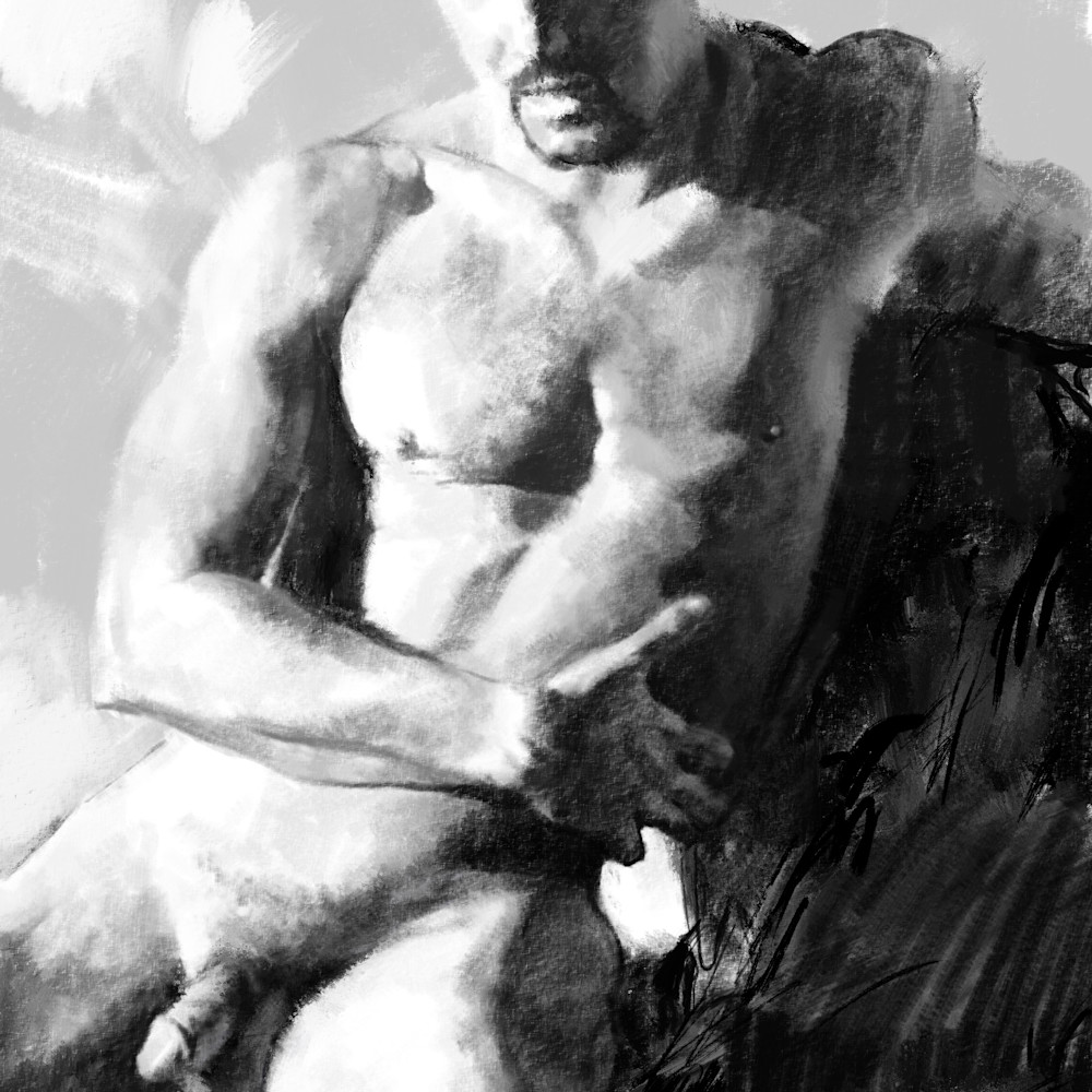 Seated male nude dig fq9gur