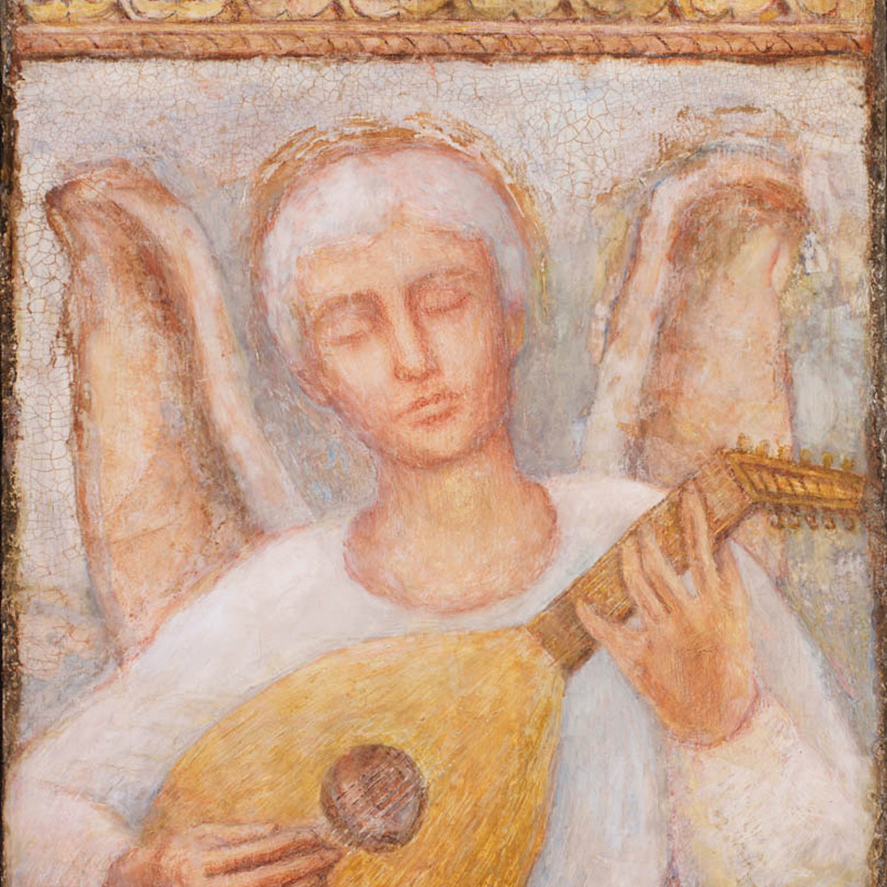 Todd knell angel playing lute tcxxkh