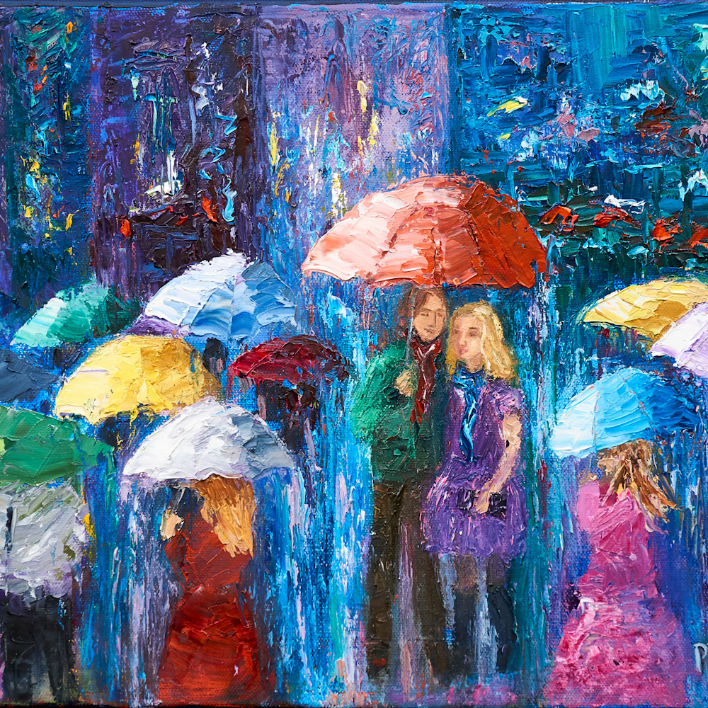 Lovers walk in paris rain iv zqk4bo