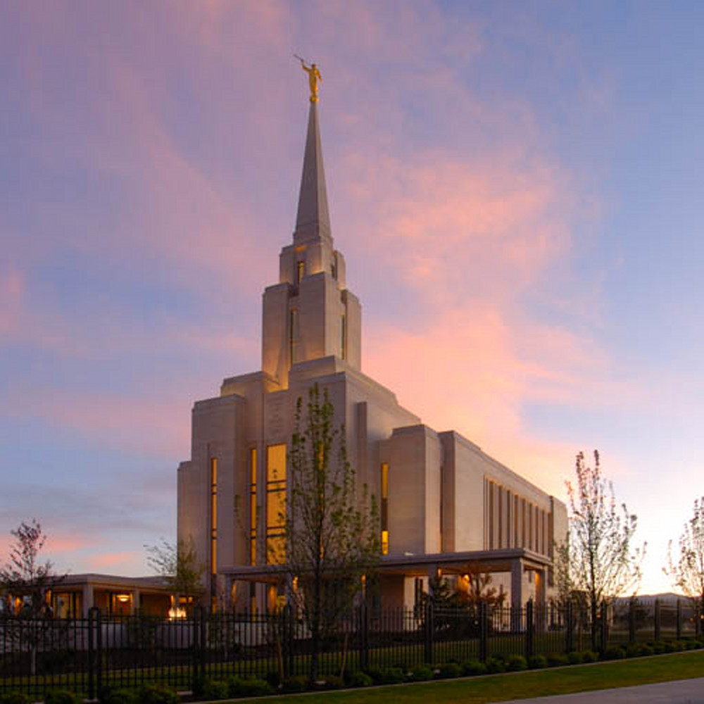 Hank delespinasse oquirrh mountain temple   panoramic pink clouds qkgrvw