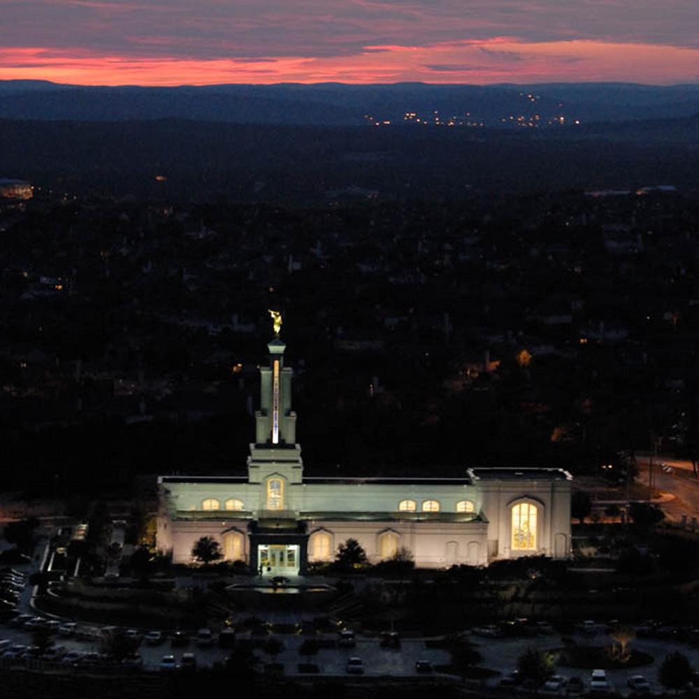 Hank delespinasse san antonio temple   aerial dusk hzsbnd