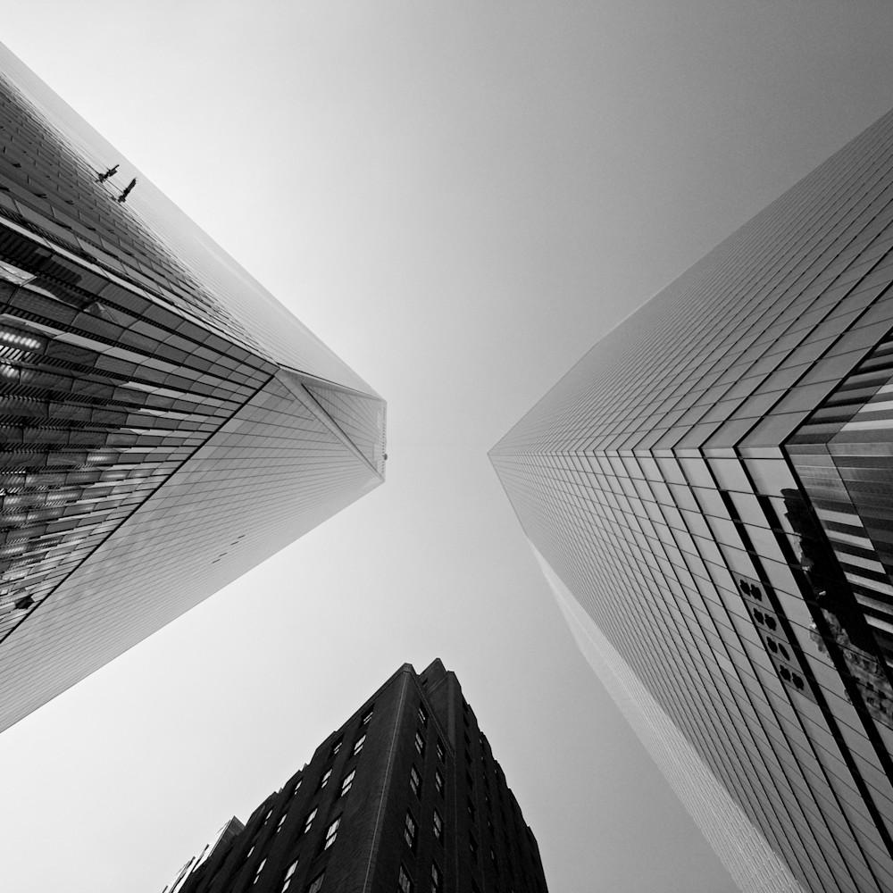 Trio of triangles one world trade center manhattan new york city ny usa z3rh68