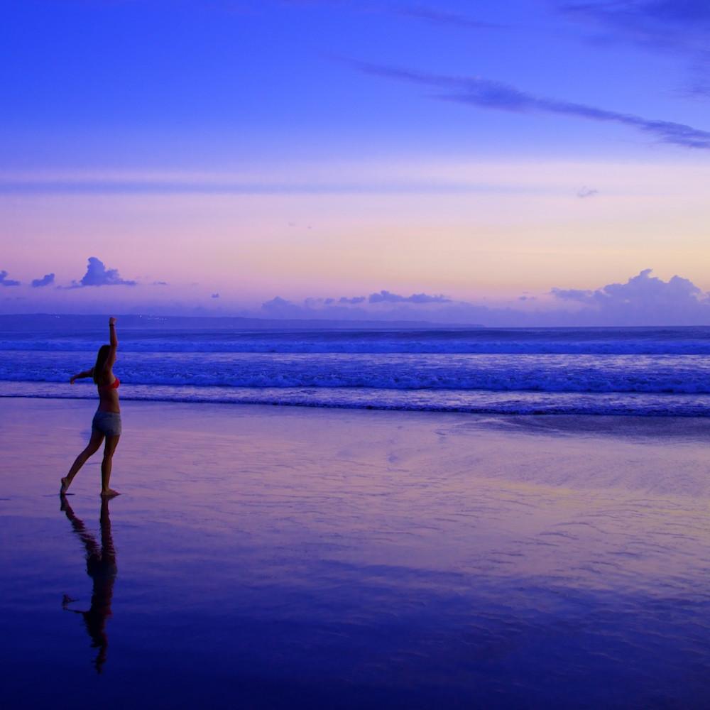 Strike a pose double six beach seminyak bali indonesia sunset jg7sx9