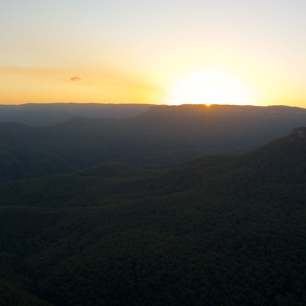 Sublime sunset leura blue mountains national park nsw australia lm8rrh