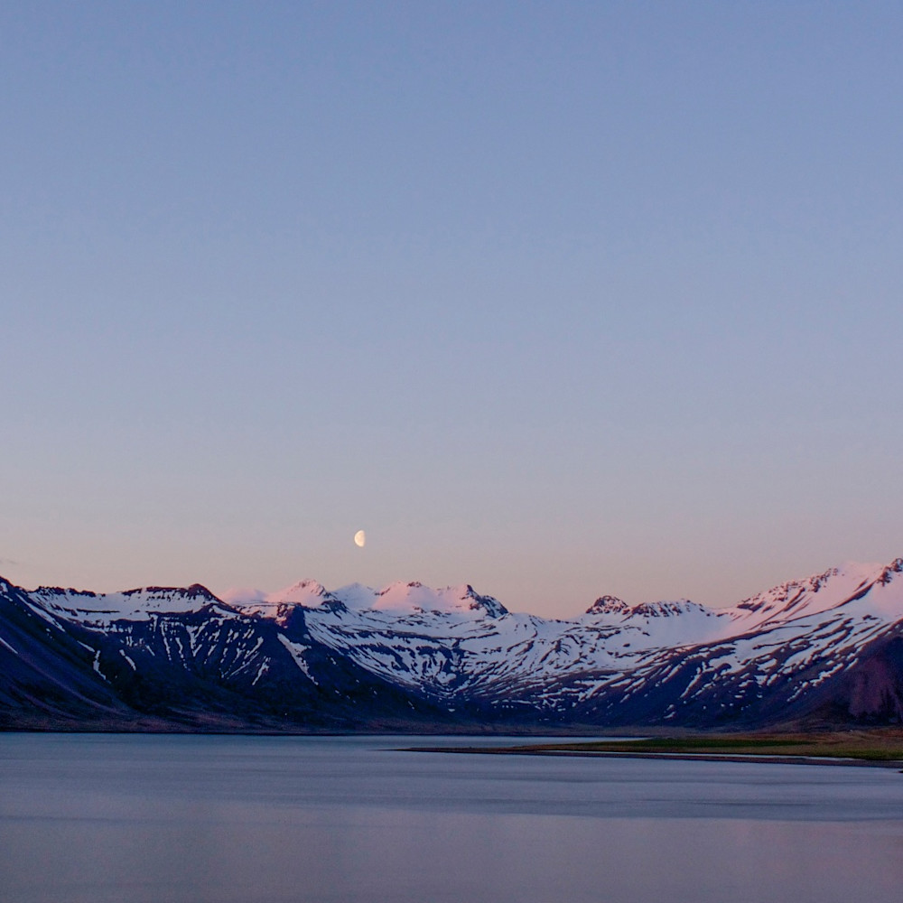 Moon rise mountains kolgrafarfjo%cc%88rdur near grundarfjo%cc%88r%c3%b0ur iceland landscape photo print yrqnf9