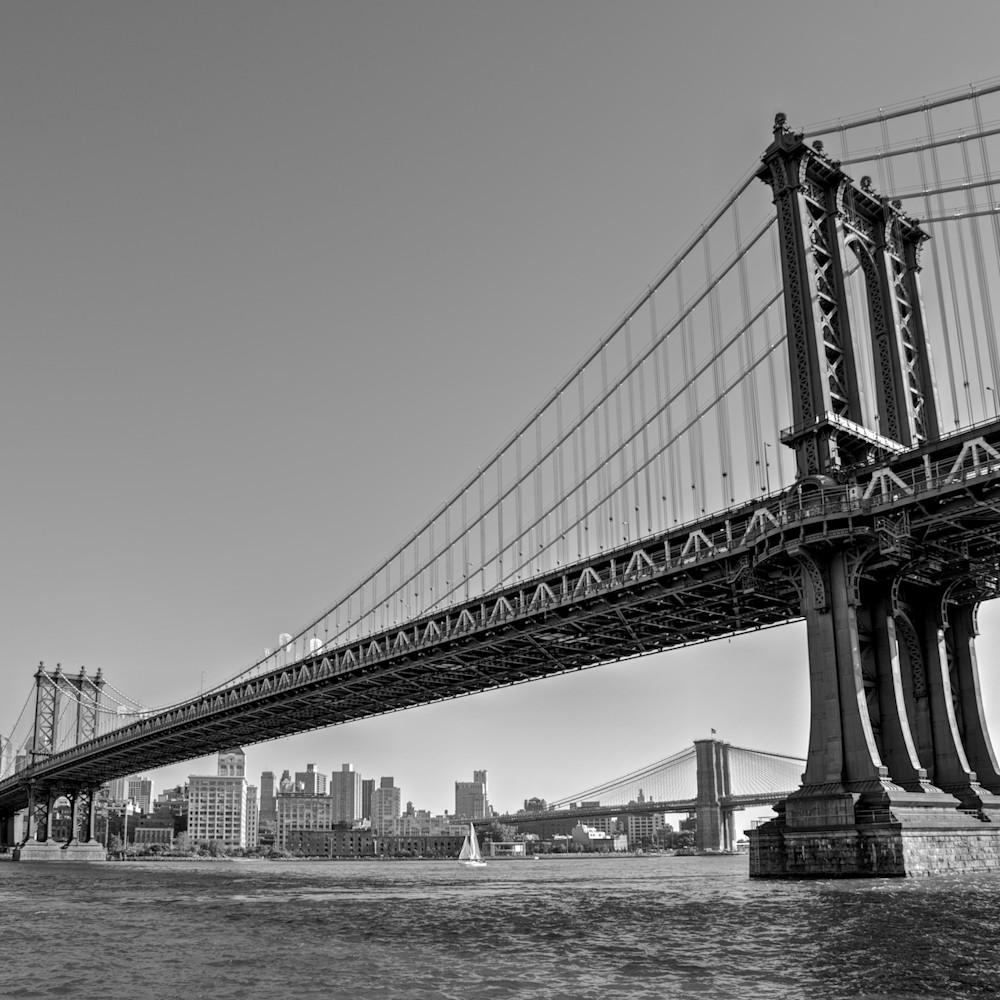Manhattan bridge brooklyn nyc new york usa landscape photo print buuvlu