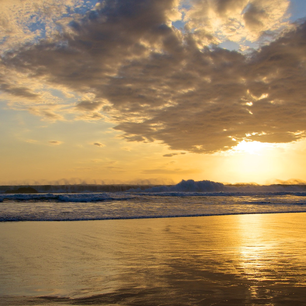 Celestial sunset double six beach seminyak bali indonesia landscape photo print sdrsaf