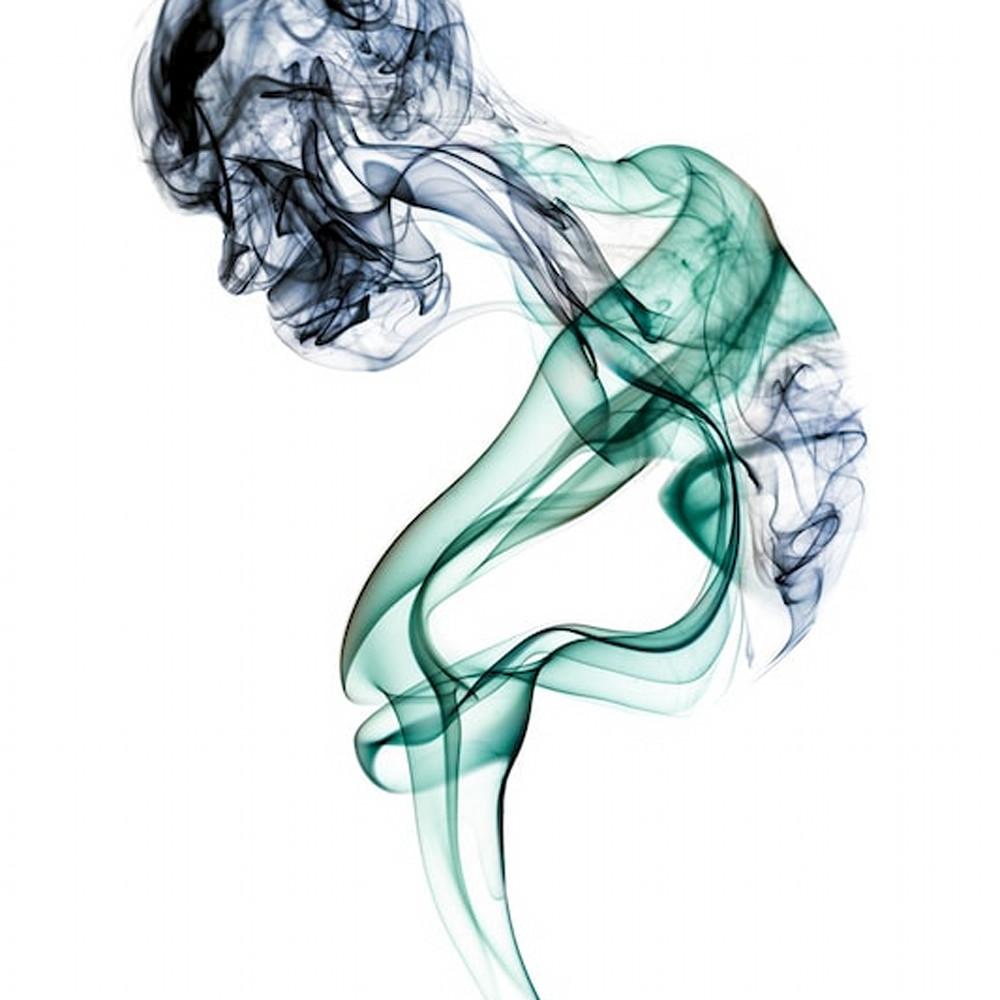 Old woman studio shoot   smoke feine form abstract art doug hall hcpcyv
