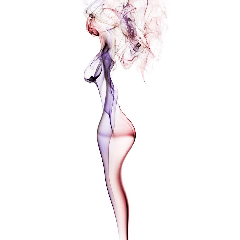 Woman with hair studio shoot   smoke feine form abstract art doug hall dx7i61