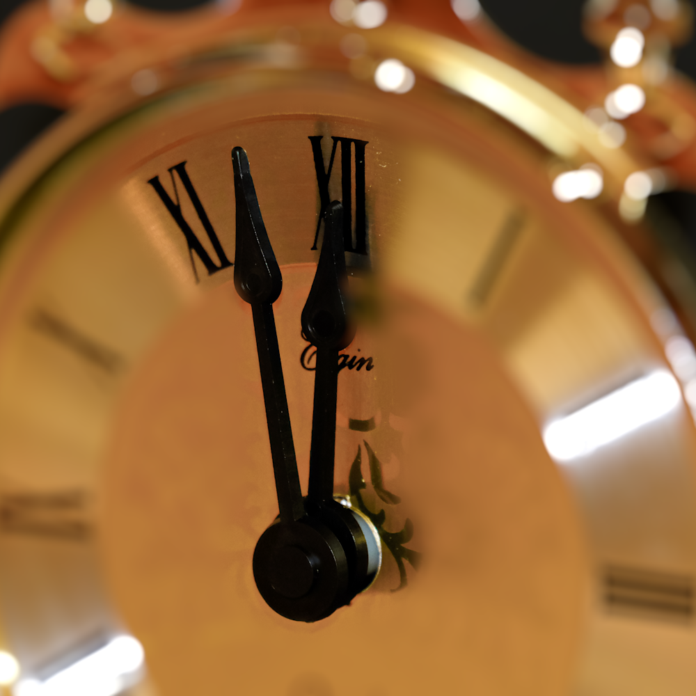 Clock   selective focus fnzb7d