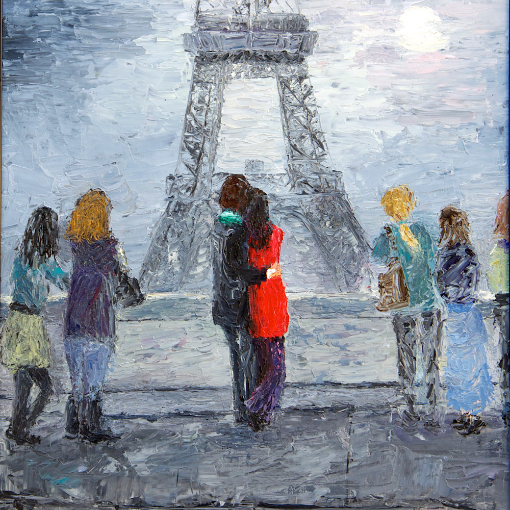 Lovers at the eiffel tower again tz83rz