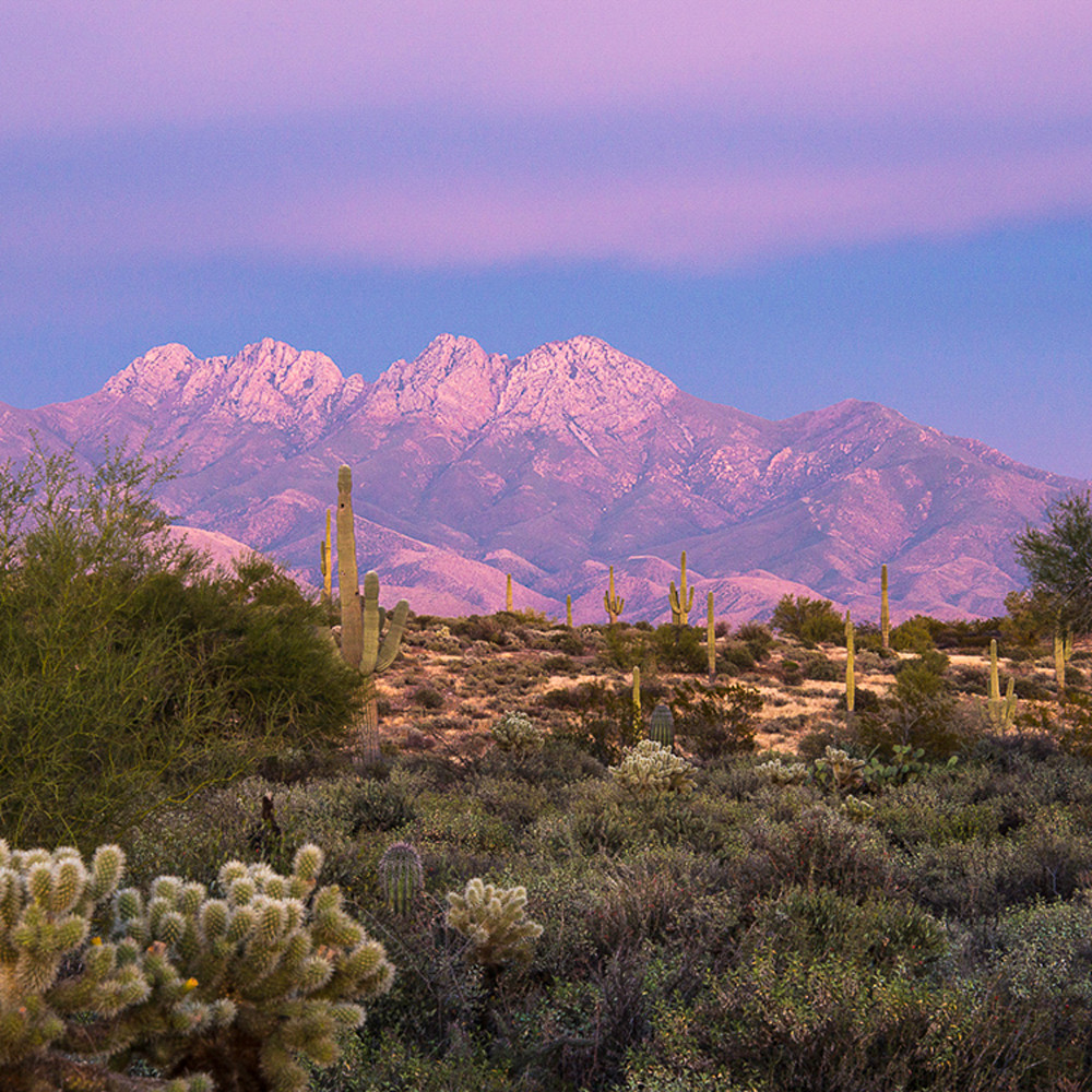 Four peaks   painted with light pano fou7ju