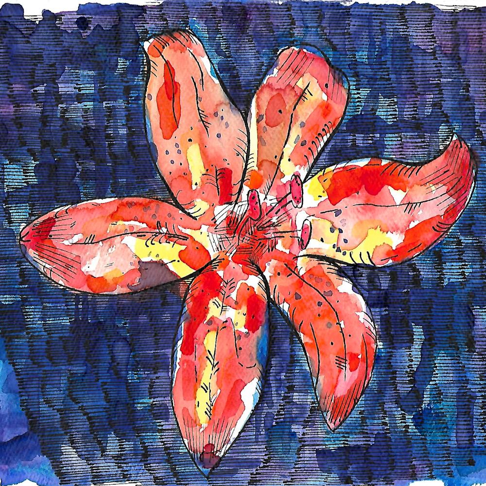 Orange red flower qlaarm
