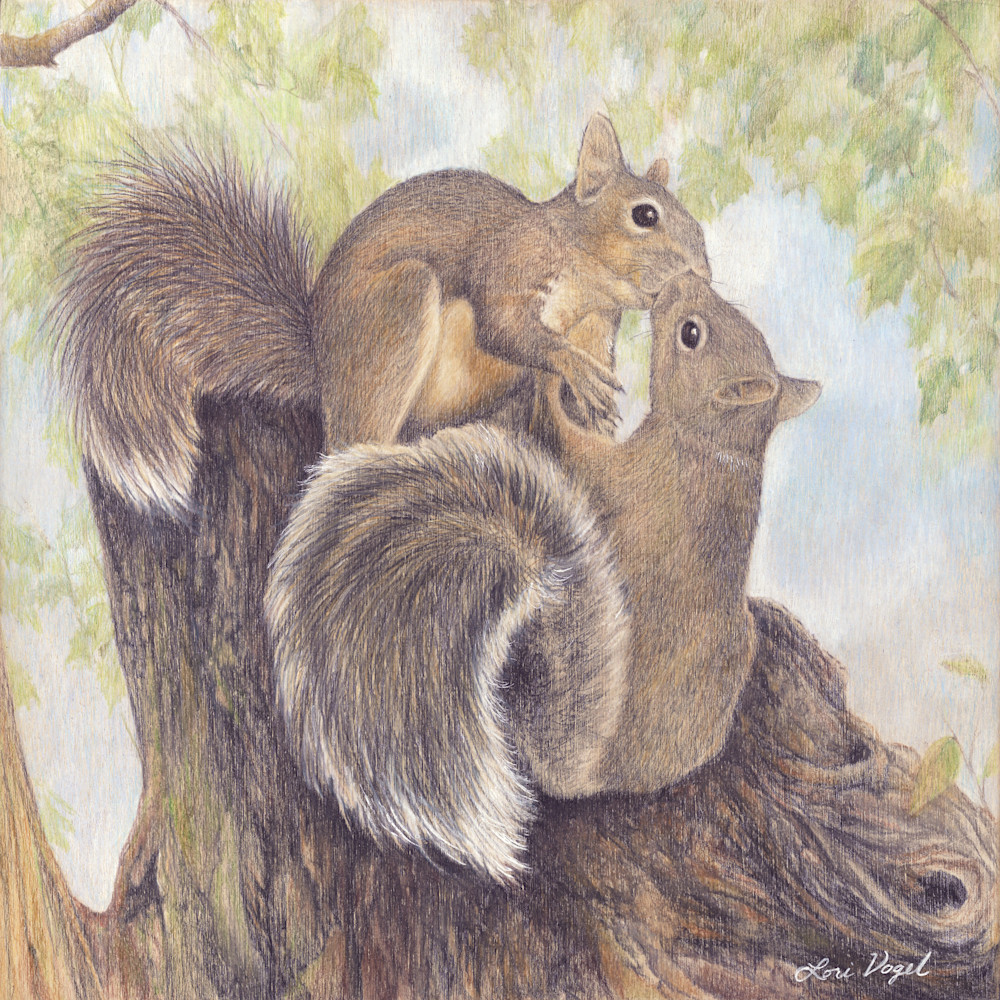 Squirel two on stump small 2 tghmbn