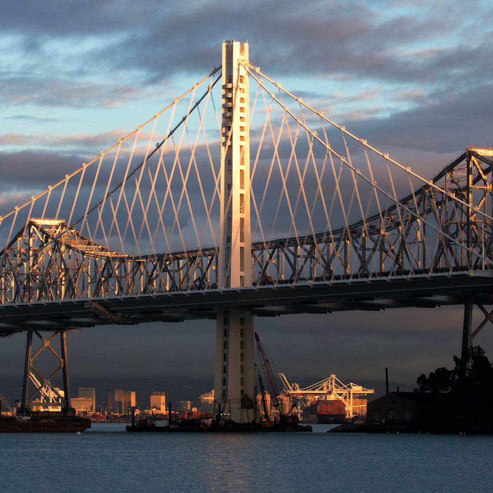 Bay bridge storm canvas tl3kzc