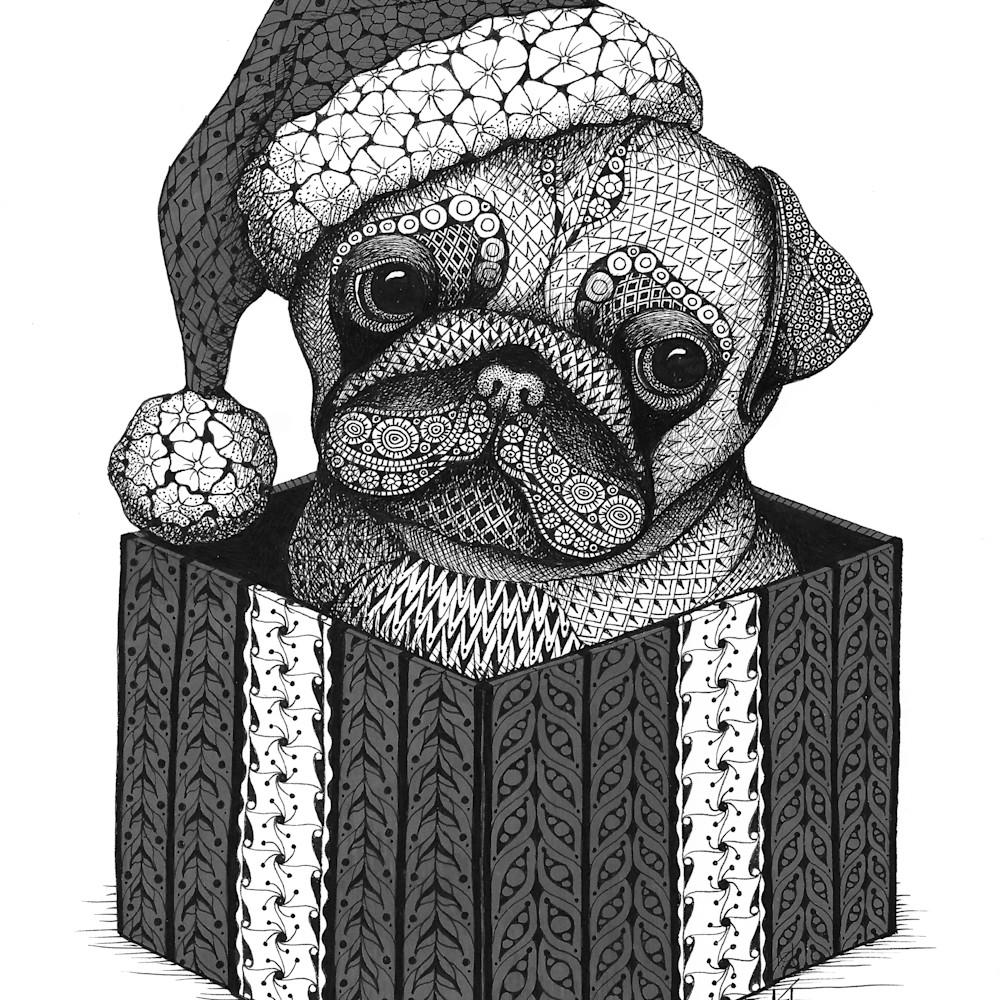 Christmas pug vt00y9